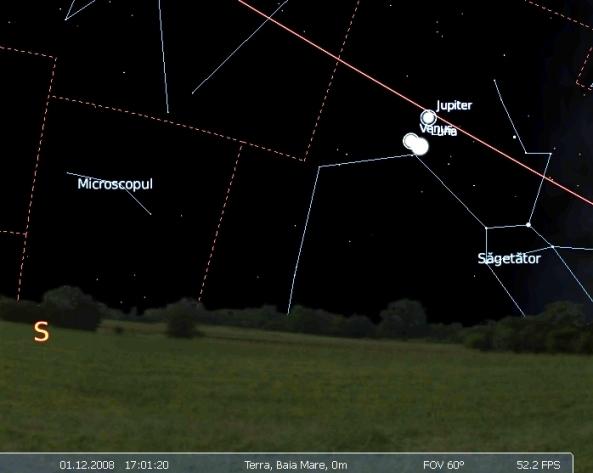 conjunctie Venus Jupiter 01.12.