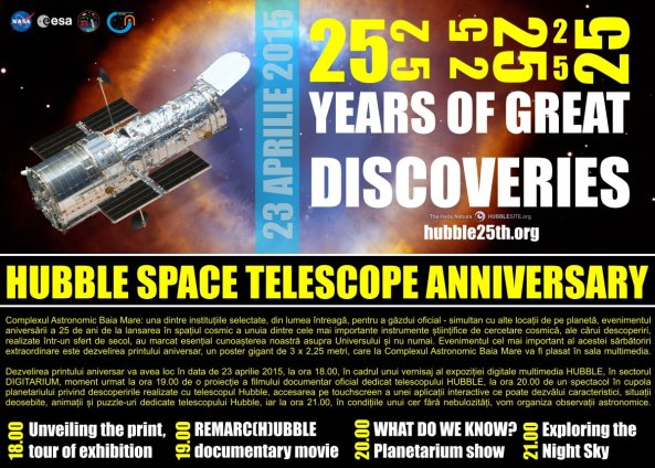 hubble 25 years in aprilmic