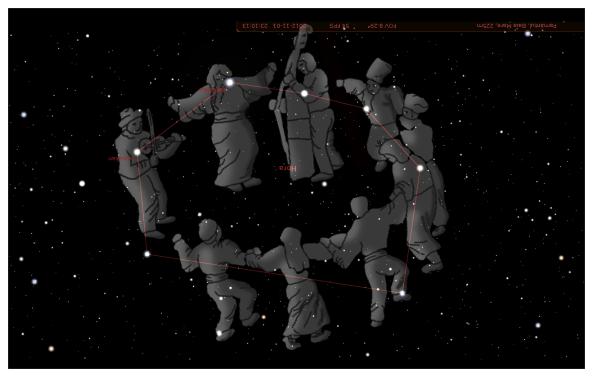 Constelatia Corona Borealis -  constelatia Hora la romani